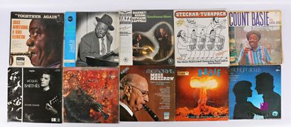 Lot de dix vinyles : - Together again Louis...