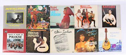 Lot de dix vinyles : - Jacky all stars Vol...