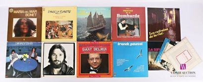 Lot de douze vinyles : - Maria del Mar Bonet...