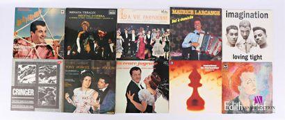 Lot de dix vinyles : - Francis Lopez Raymond...