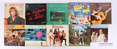 Lot de dix vinyles : - Annie Cordy - 1 disque...