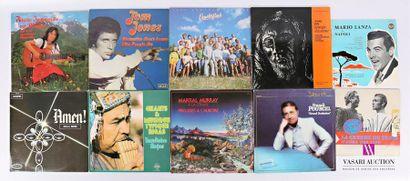 Lot de dix vinyles : - Frische Jodlergrusse...