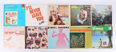Lot de dix vinyles : - Rondes de France N°...