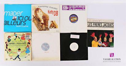 Lot de sept vinyles : - Mader Ici ou ailleurs...