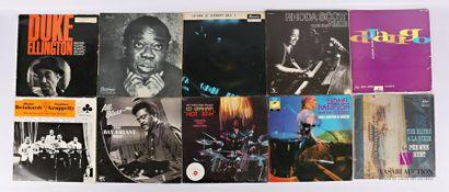 Lot de dix vinyles : - Duke Ellington Les...