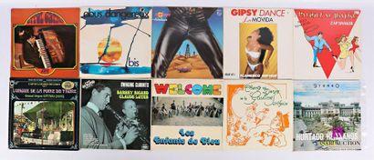 Lot de dix vinyles : - Errol Garner - 1 disque...