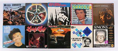 Lot de dix vinyles : - Michel Arnaud les...