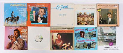 Lot de dix vinyles : - Caravelli Grands succès...
