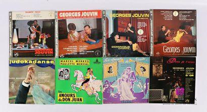 Lot de huit vinyles : - Georges Jouvin Musique...