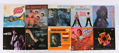 Lot de dix vinyles : - Georges Jouvin Trompette...