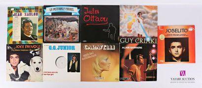 Lot de neuf vinyles : - Jean Sablon Du music-hall...