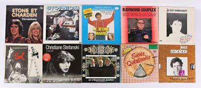 Lot de dix vinyles : - Stone et Charden L'aventura...