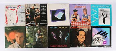 Lot de dix vinyles : - Histoires de Paris...
