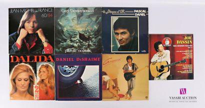 Lot de sept vinyles : - Jean Michel de France...