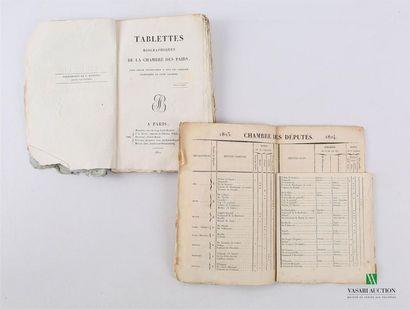 ANONYME - Tablettes biographiques de la Chambre...