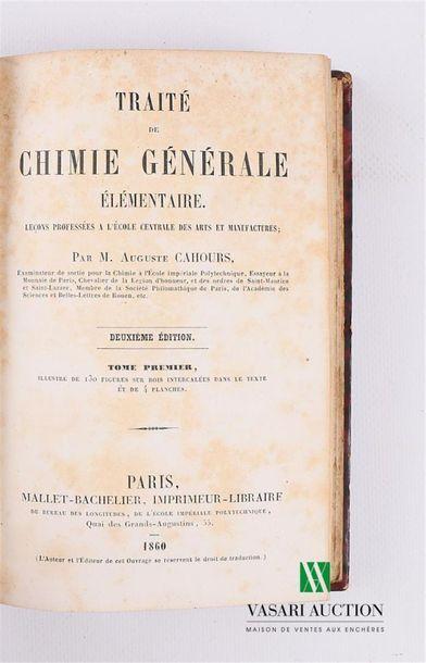 CAHOURS A. - Traité de chimie générale élémentaire...