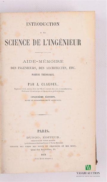 CLAUDEL J. - Introduction à la science de...