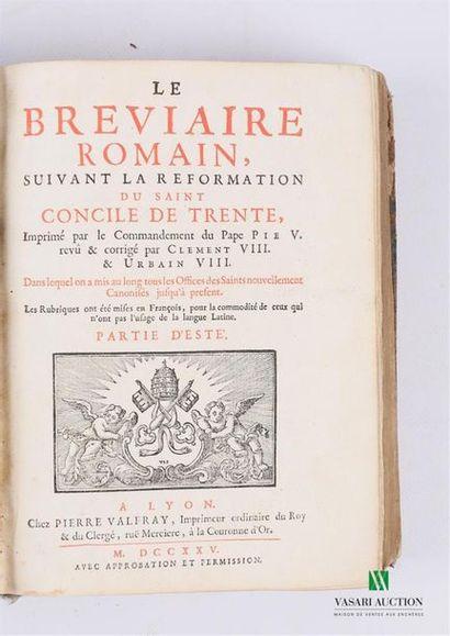 [BREVIAIRE] Le Bréviaire Romain suivant la...