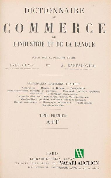 GUYOT Yves et RAFFALOVITCH A. - Dictionnaire...
