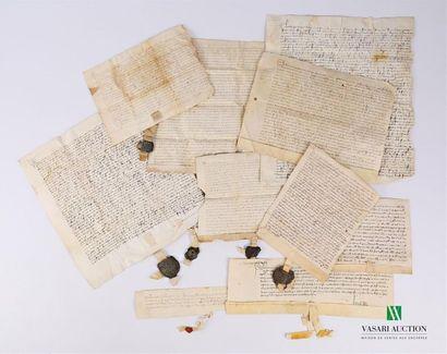 [MANUSCRITS] Ensemble de 10 manuscrits, sur...
