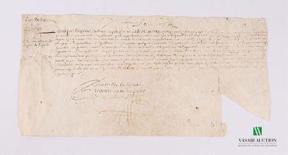 [Anne d'Autriche - Louis XIII] Lettre d'état...
