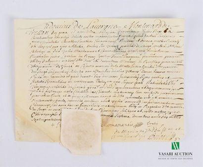 [Tours - 1707] Pièce manuscrite en latin,...