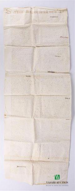 Acte de partage de terres manuscrit, daté...