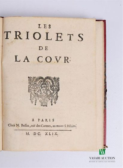ANONYME - Les triolets de la cour - Paris...