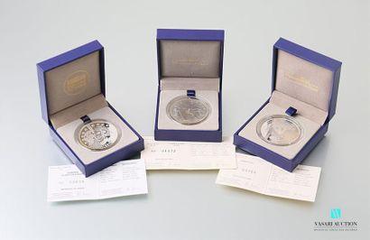 MONNAIE DE PARIS Lot de 3 pièces commémoratives...