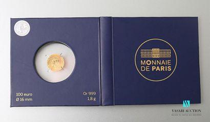 MONNAIE DE PARIS Une pièce de 100 euros or...