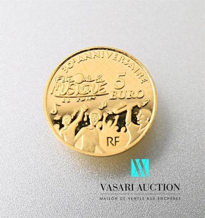 MONNAIE DE PARIS Une pièce de 5 euros commémorative...