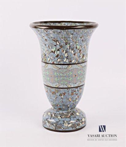 GERBINO - Vallauris Vase de forme balustre...