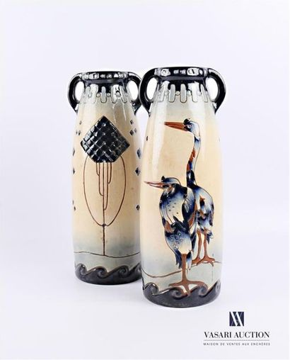AUTRICHE - Manufacture Amphora Paire de vases...