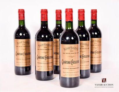 6 bouteillesChâteau BELLEVUESt Emilion...