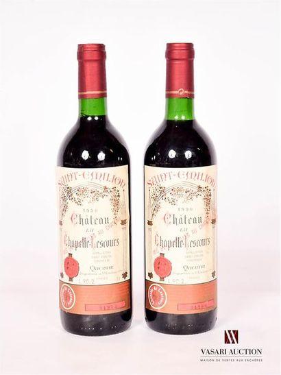 2 bouteillesChâteau LA CHAPELLE LESCOURSSt...