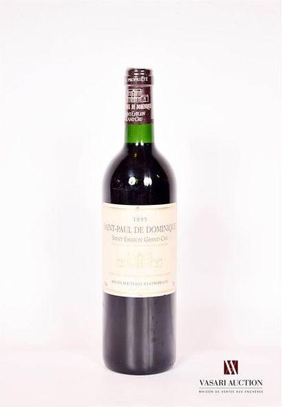 1 bouteilleSAINT PAUL DE DOMINIQUESt Emilion...