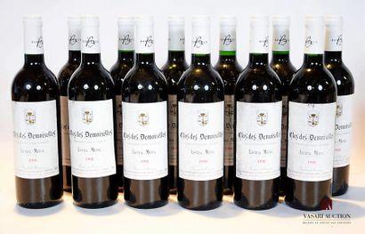 12 bouteillesCLOS DES DEMOISELLESListrac1998...