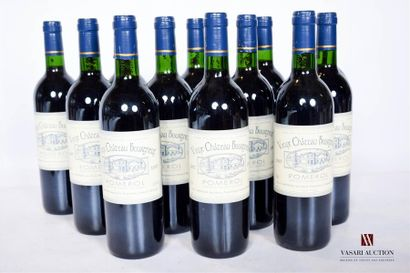 12 bouteillesVIEUX CHÂTEAU BOURGNEUFPomerol1997...