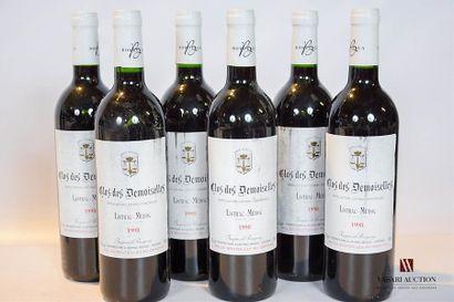 6 bouteillesCLOS DES DEMOISELLESListrac1998...