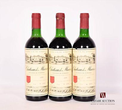 3 bouteillesChâteau DES MAURESLalande de...