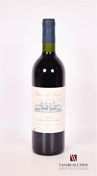 1 bouteilleFLEUR DE CLINETPomerol1992...