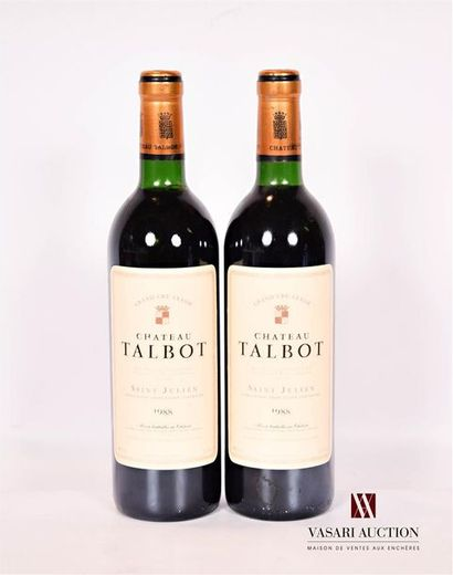 2 bouteillesChâteau TALBOTSt Julien GCC1988...