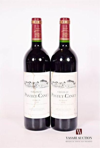 2 bouteillesChâteau PONTET CANETPauillac...