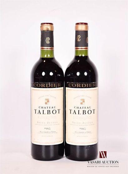 2 bouteillesChâteau TALBOTSt Julien GCC1983...