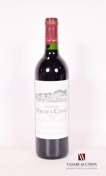 1 bouteilleChâteau PONTET CANETPauillac...