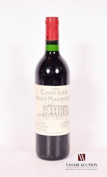 1 bouteilleChâteau HAUT MARBUZETSt Estèphe1995...