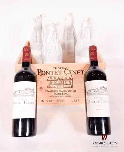 6 bouteillesChâteau PONTET CANETPauillac...