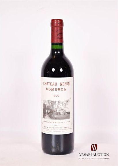 1 bouteilleChâteau NÉNINPomerol1990  Et....