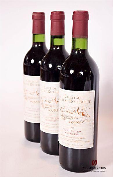 3 bouteillesChâteau TERTRE ROTEBOEUFSt...
