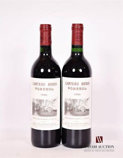 2 bouteillesChâteau NÉNINPomerol1990  Et....
